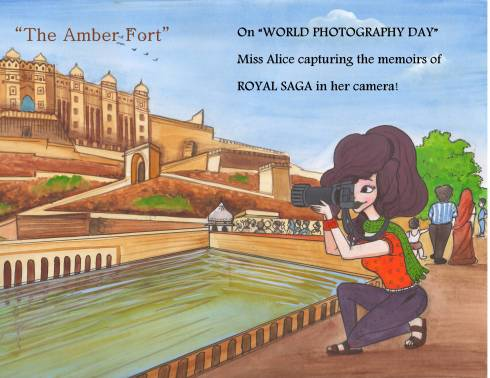 Miss Alice capturing Jaipur's History in her lens